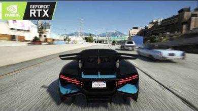 ویدیویی از GTA V + ماشین های 2019 + رزولوشن 8k و Ray-Tracing RTX