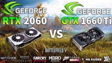 مقایسه دو کارت گرافیک GTX 1660 Ti vs. RTX 2060 در 10 بازی مختلف