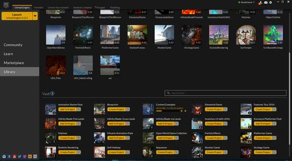 ویژگی نرم افزار epic game launcher برای ویندوز :