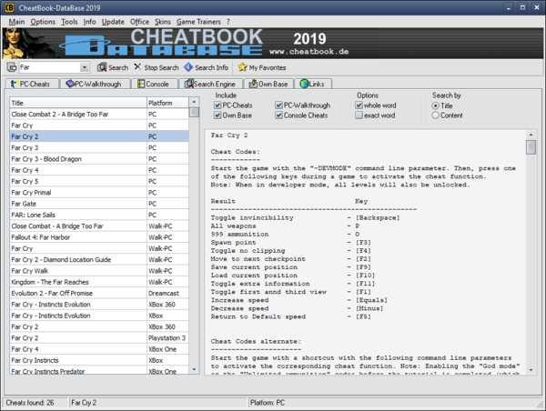 دانلود نرم افزار CheatBook DataBase - (چیت بوک کد تقلب)