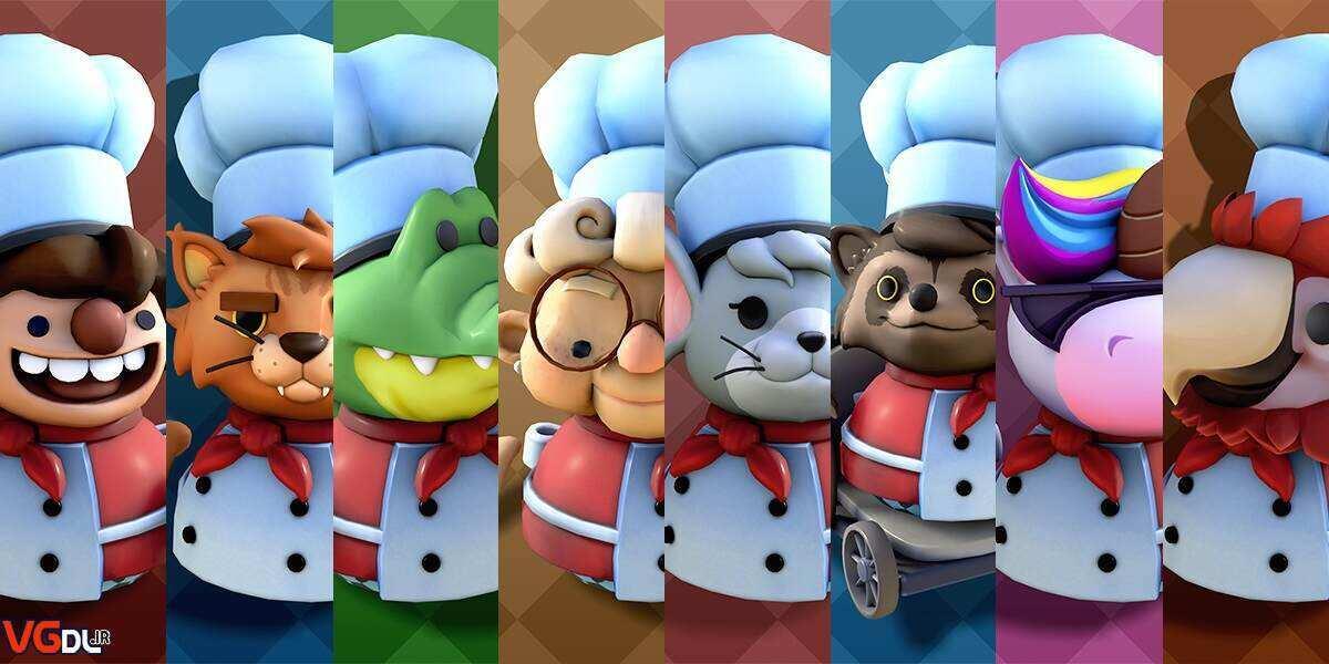 2x1 image v01.0290fa98 bzzt - دانلود بازی Overcooked 2 Gourmet Edition + all DLC نسخه فشرده کامل (چندنفره ) کم حجم برای کامپیوتر