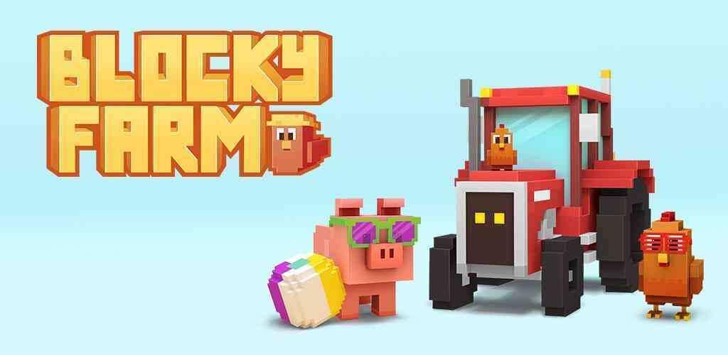 """Blocky Farm Cover - دانلود بازی اندروید Blocky Farm – بازی جالب و سرگرم کننده """"مزرعه داری"""""""