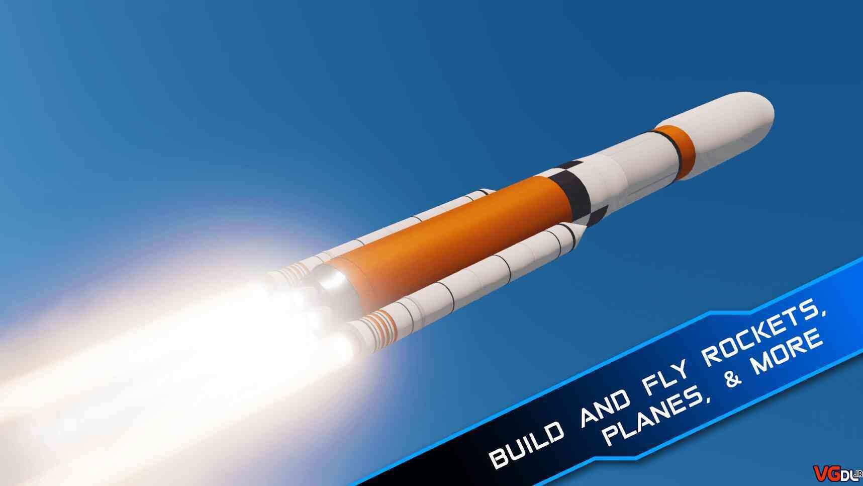 """SimpleRockets 2 10 - دانلود بازی اندروید SimpleRockets 2 – بازی شبیه ساز و سرگرم کننده """" ساخت موشک ۲ """""""
