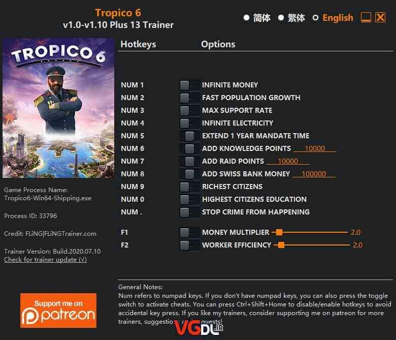 دانلود ترینر سالم و معتبر Tropico 6