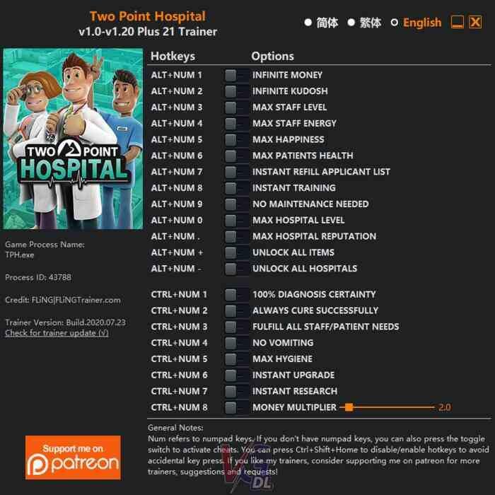 Two Point Hospital Cheats