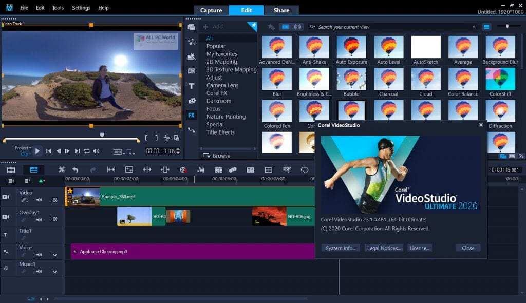 Corel-VideoStudio-WorkSpace